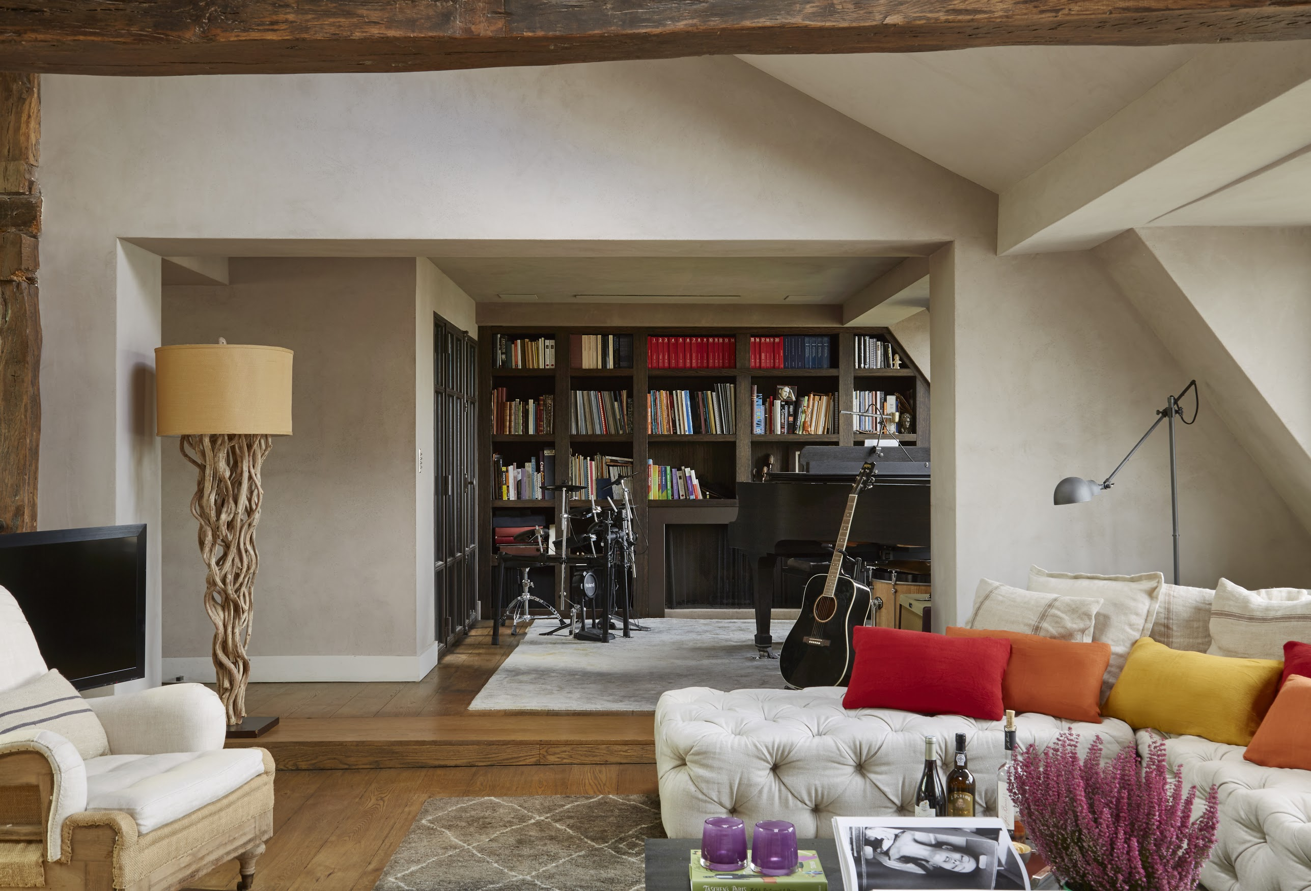 Living room office design