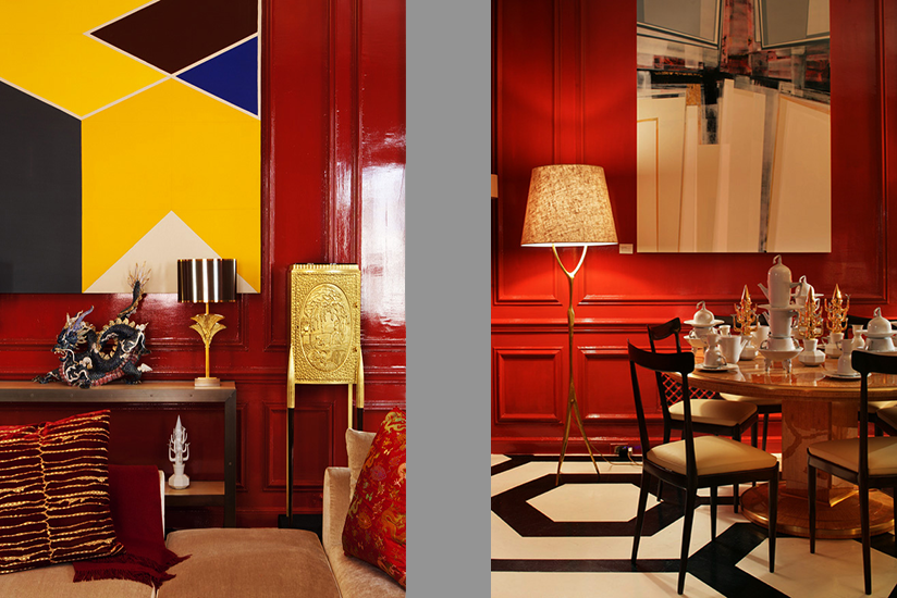 Chinese New Year inspired Interior Design Townhouse